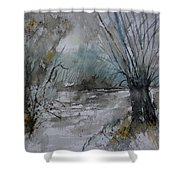 River Watercolor 711082 Shower Curtain