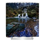 River Waterfalls Shower Curtain