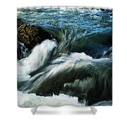 River With Rapids Shower Curtain