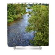 River Wye From Hay-on-wye Bridge Shower Curtain