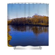 River Wye,herefordshire Uk Shower Curtain