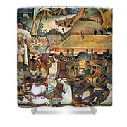 Rivera: Pre-columbian Life Shower Curtain
