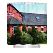 Riverbank Restaurant Riverstown Ireland Shower Curtain