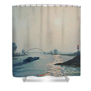 Riverbarge Shower Curtain