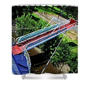 Riverboat Landing At Sacajawea Park Shower Curtain