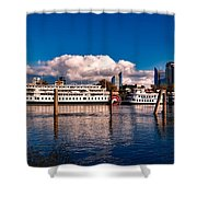 Riverboats Of Sacramento Shower Curtain