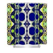 Riverdale Blue Green Shower Curtain