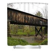 Riverdale Road Covered Bridge Shower Curtain