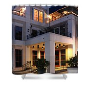 Riverfront Architecture Shower Curtain