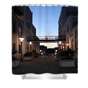 Riverfront At Twilight Shower Curtain