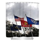 Riverfront Park In Charleston Sc Shower Curtain