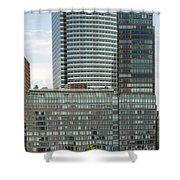 Riverhouse, One Rockefeller Park At 2 River Terrace In Battery Park City Shower Curtain