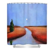 Rivers End Shower Curtain