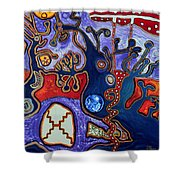 Rivers Of Arcturian Emination Shower Curtain