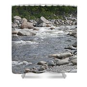Rivers Of New Hampshire Shower Curtain