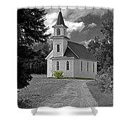 Riverside Presbyterian Church 1800s Bw Shower Curtain