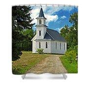 Riverside Presbyterian Church 1800s Shower Curtain
