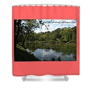 Riverside Reflection Shower Curtain