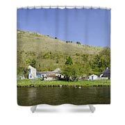 Riverside Setting At Monsal Dale Shower Curtain