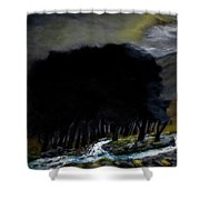 Riverside Tree Grove Shower Curtain