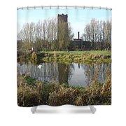 Riverside Walk - Burton On Trent Shower Curtain