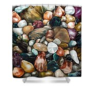 Riverstones I Shower Curtain