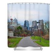 Riverwalk - Philadelphia Shower Curtain