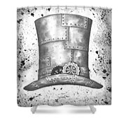 Riveting Top Hat Shower Curtain