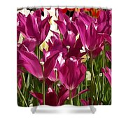 Riveting Tulip Of Joy Shower Curtain