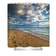 Riviera Beach Sunrise Shower Curtain