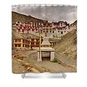 Rizong Monastery Ladakh Jammu And Kashmir India Shower Curtain