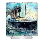 Rms Titanic White Star Line Ship Shower Curtain