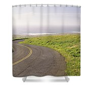 Road Along The Coast, Point Reyes Shower Curtain