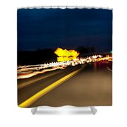 Road At Night 1 Shower Curtain