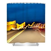 Road At Night 2 Shower Curtain