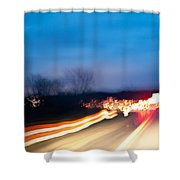 Road At Night 3 Shower Curtain