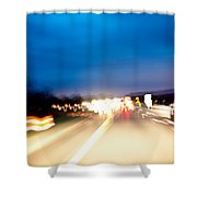 Road At Night 5 Shower Curtain