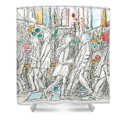 Road Crossing. 6 February, 2015 Shower Curtain