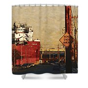 Road Ends Ahead Shower Curtain