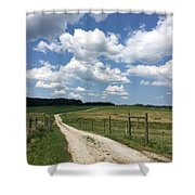 Road From The Farm Shower Curtain
