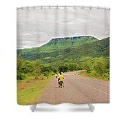 Road In Khondowe, Malawi Shower Curtain