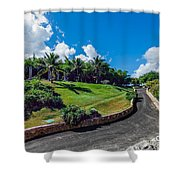 Road In Park Shower Curtain