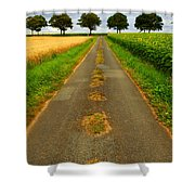 Road In Rural France Shower Curtain