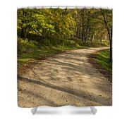 Road In Woods Autumn 3 A Shower Curtain