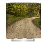 Road In Woods Autumn 3 B Shower Curtain