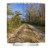 Road In Woods Autumn 4 A Shower Curtain