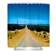 Road Shower Curtain