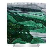 Road Leading To Hearst Castle Shower Curtain