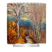 Road Line - Tuscany Shower Curtain