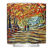 Road Of Life  Fine Art Shower Curtain